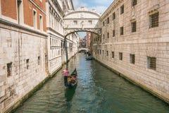 Amazing Venice: the famous bridge of sighs Stock Image