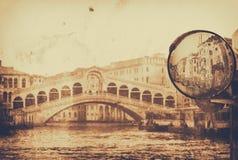 Amazing Venice,Rialto bridge - artwork in painting style Stock Photography