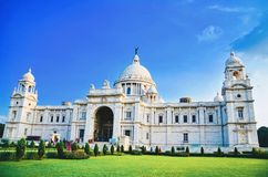 Amazing Victoria palace by built. Kolkata city of joy Royalty Free Stock Images