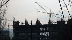 View of building construction stock footage