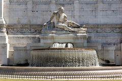 Amazing view of Altar of the Fatherland- Altare della Patria, known as the national Monument to Victo. ROME, ITALY - JUNE 23, 2017: Amazing view of Altar of the Stock Photo