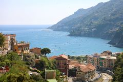 Amazing view of Amalfi Coast from Vietri sul Mare village, Italy.  stock photos
