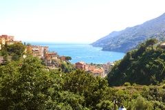 Amazing view of Amalfi Coast from Vietri sul Mare village, Italy.  stock photography