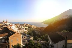 Amazing view of Amalfi Coast from Vietri sul Mare village, Italy.  stock images