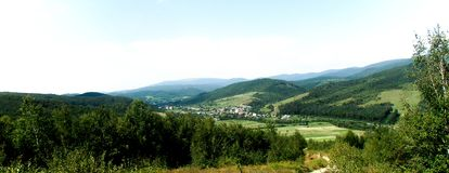 Amazing view. From the top of the mountain Royalty Free Stock Photography