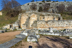Amazing view of archeological area of Philippi, Greece Stock Photo