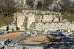 Amazing view of archeological area of Philippi,  Greece Royalty Free Stock Photo
