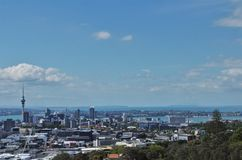 Amazing view of Auckland city and skytower stock images