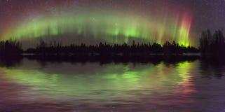 Amazing view of the aurora borealis Royalty Free Stock Image