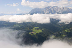 Amazing view of Austrian Alps Royalty Free Stock Photo