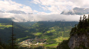 Amazing view of Austrian Alps Stock Photo