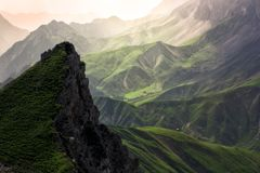 Amazing view in austrian alps stock photos