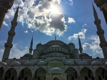 Amazing view of aya sofia mosque in summer. Amazing view of aya sofia facade mosque in summer, Istanbul stock photos