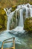 Amazing view of Bachkovo waterfalls cascade in Rhodopes Mountain, Bulgaria Royalty Free Stock Photos