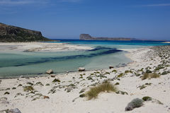Amazing view of Balos bay. Royalty Free Stock Image