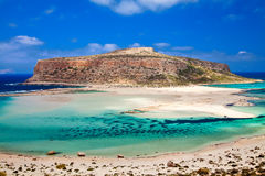 Amazing view of Balos lagoon Royalty Free Stock Image