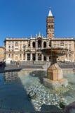 Amazing view of Basilica Papale di Santa Maria Maggiore in Rome, Italy. ROME, ITALY - JUNE 22, 2017: Amazing view of Basilica Papale di Santa Maria Maggiore in Stock Images