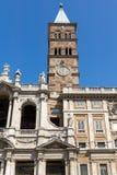 Amazing view of Basilica Papale di Santa Maria Maggiore in Rome, Italy. ROME, ITALY - JUNE 22, 2017: Amazing view of Basilica Papale di Santa Maria Maggiore in Stock Photo