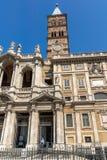 Amazing view of Basilica Papale di Santa Maria Maggiore in Rome, Italy. ROME, ITALY - JUNE 22, 2017: Amazing view of Basilica Papale di Santa Maria Maggiore in Stock Image