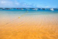 Amazing view from beach las Teresitas with yellow sand. Location Stock Photos