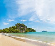 Amazing view of beautiful beach. Location: Krabi province, Thail Royalty Free Stock Photo