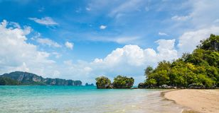 Amazing view of beautiful beach. Location: Krabi province, Thailand, Andaman Sea. Artistic picture. Beauty world royalty free stock images