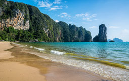 Amazing view of beautiful beach. Location: Krabi province, Thail Royalty Free Stock Images