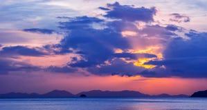 Amazing view of beautiful beach. Location: Krabi, Thailand, Andaman Sea. Artistic picture. Beauty world.Panorama. Amazing view of beautiful beach. Location stock image