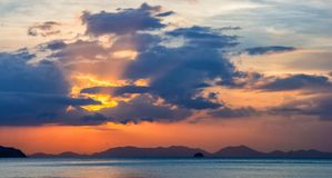Amazing view of beautiful beach. Location: Krabi, Thailand, Andaman Sea. Artistic picture. Beauty world. Panorama stock photo