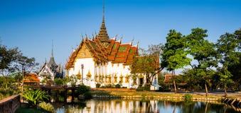 Amazing view of beautiful Dusit Maha Prasat Palace The Grand Pa stock photo