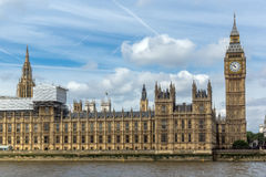Amazing view of Big Ben in Houses of Parliament, London, England Royalty Free Stock Images