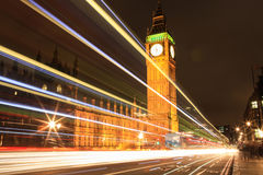 Amazing view of Big Ben at night Stock Image