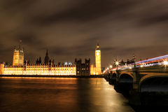 Amazing view of Big Ben at night Stock Images