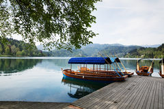 Amazing View On Bled Lake. Springtime or summertime in Slovenia. Stock Image