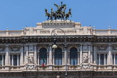 Amazing view of Building of The Supreme Court of Cassation in city of Rome, Italy Stock Image