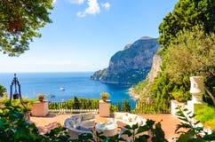 Amazing view on Capri island, Campania, Italy Royalty Free Stock Photo