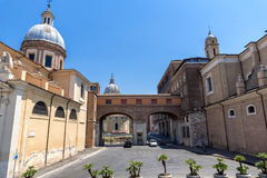 Amazing view of Chiesa di San Rocco all Augusteo in Rome, Italy Royalty Free Stock Photos