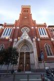 Amazing view of Church of Santa Cruz in City of Madrid, Spain. MADRID, SPAIN - JANUARY 23, 2018: Amazing view of Church of Santa Cruz in City of Madrid, Spain stock photos