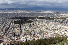 Amazing view of the city of Athens from Lycabettus hill, Greece Stock Photo