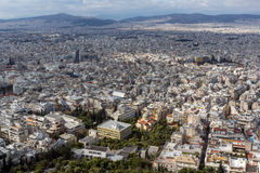 Amazing view of the city of Athens from Lycabettus hill, Greece Stock Image