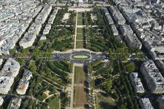 View from Eiffel tower. Amazing view of city from Eiffel tower Royalty Free Stock Photo