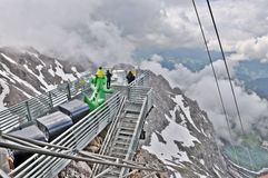 Amazing View of Clouds. This image was photographed in Dachstein, Austria . You get amazing view from this platform which stands over 3000 meters from sea level stock photos