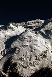 Amazing view and color of a snowy mountain in the alps switzerland.  Stock Photos