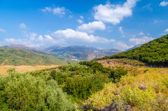 Amazing view on Crete island, Greece Stock Photo