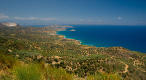 Amazing view on Crete island, Greece. Royalty Free Stock Images