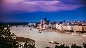 Amazing view on Danube in Budapest stock footage