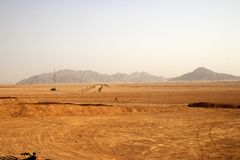 Amazing view at the desert in Egypt royalty free stock image
