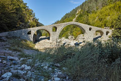 Amazing view of  Devil's Bridge and Arda river,  Bulgaria Stock Photography