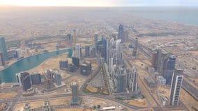 Amazing view on Dubai futuristic skyline . Dubai, UAE - city of skylines, aerial view.  stock image