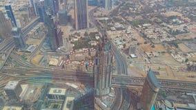 Amazing view on Dubai futuristic skyline . Dubai, UAE - city of skylines, aerial view.  royalty free stock photography